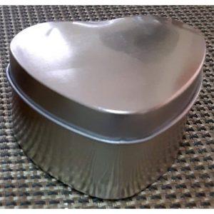 Plain Heart Silver Metal Box